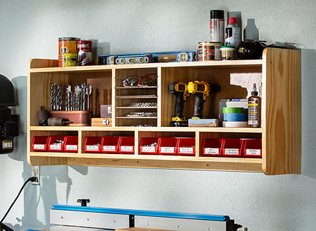 Wall-Mounted Utility Shelf