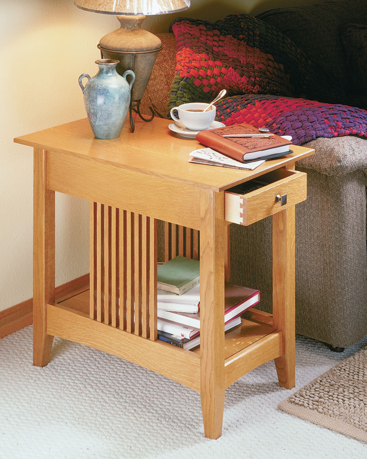 This narrow end table isn't just a traditional Craftsman project. For a woodworker, it's got a few secrets that are worth a closer look.
