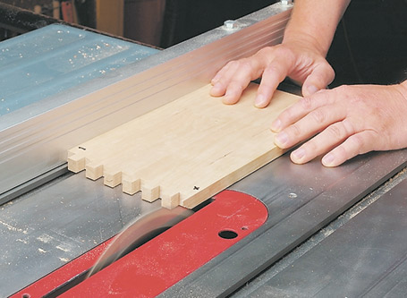 """Box joints have it all — they're strong, quick, and good-looking. And all you need is a dado blade and a """"ten-minute"""" jig."""