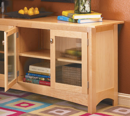 A sofa table with built-in storage or a long, low bookcase? Any way you look at it, this is a great project to build.