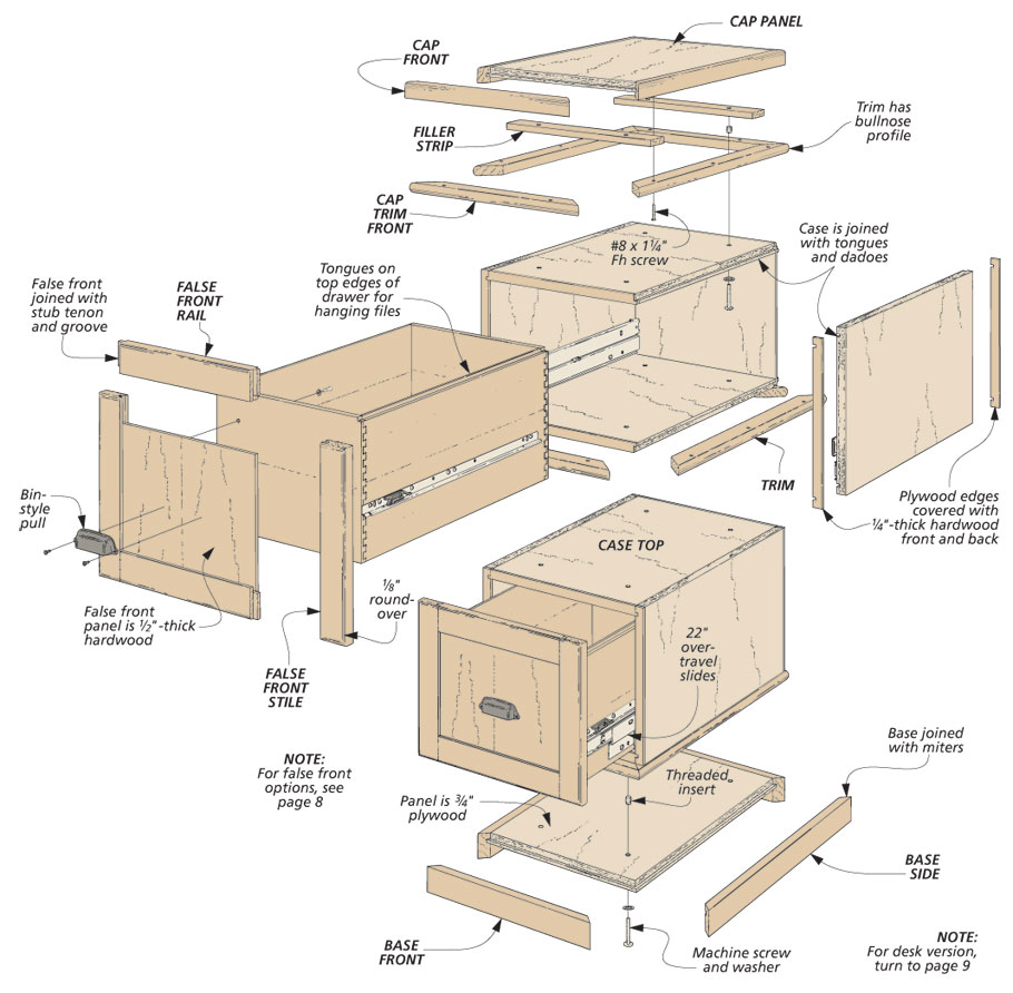Kitchen Cabinet Woodworking Plans: Modular File Cabinets
