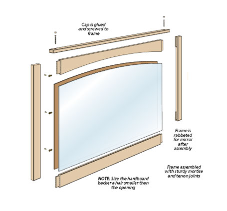 This easy-to-build mirror would look great, whether it's hanging in a bedroom, over a fireplace, or in an entryway.