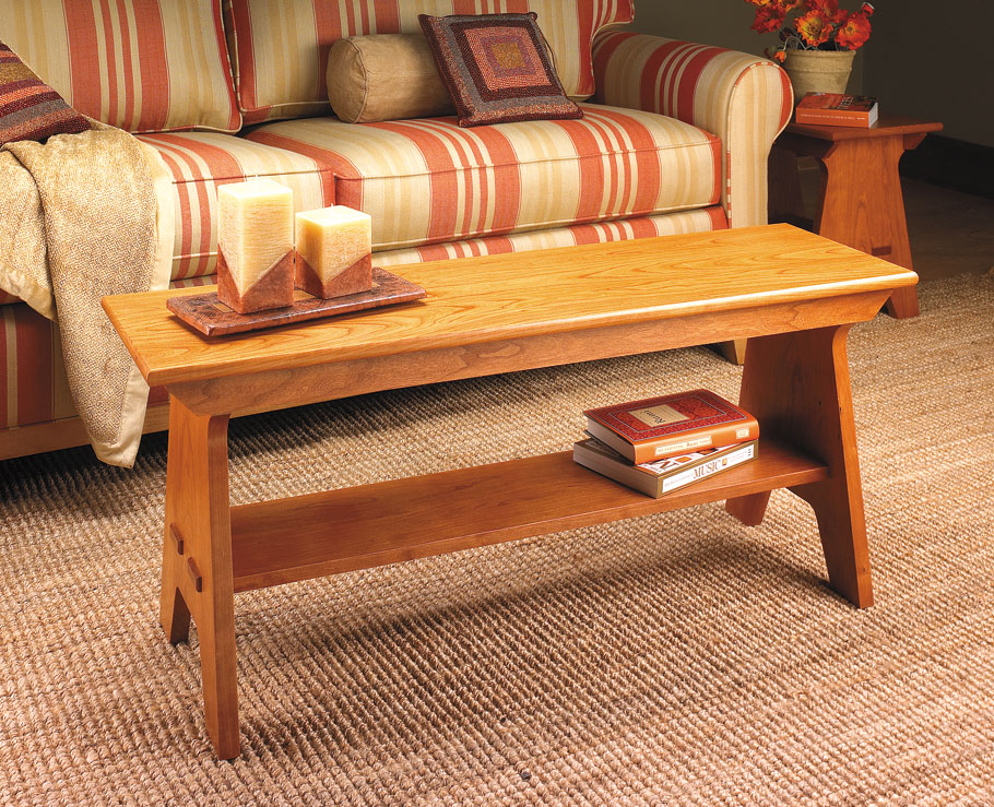 This bench is a simple country classic. It might look kind of familiar, because this basic style has been used for ages.