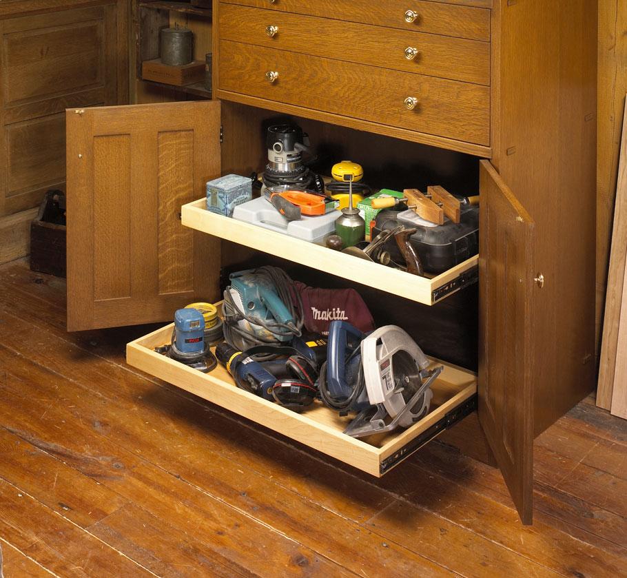 Classic Oak Tool Cabinet