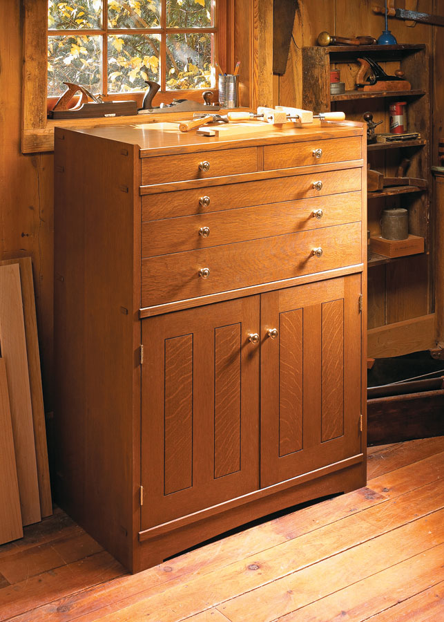 Searching for a permanent fixture to house your collection of hand tools? Then look no further than this great-looking cabinet.