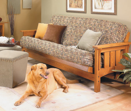 Craftsman-Style Futon Sofa Bed