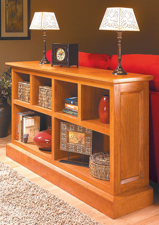 Low Cherry Bookcase