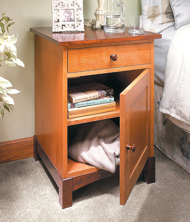 This simple night stand can update any bedroom on its own, or you can rejuvenate the entire room with four matching pieces.