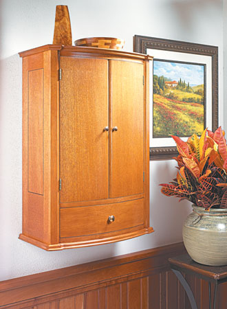 Curved-Front Wall Cabinet