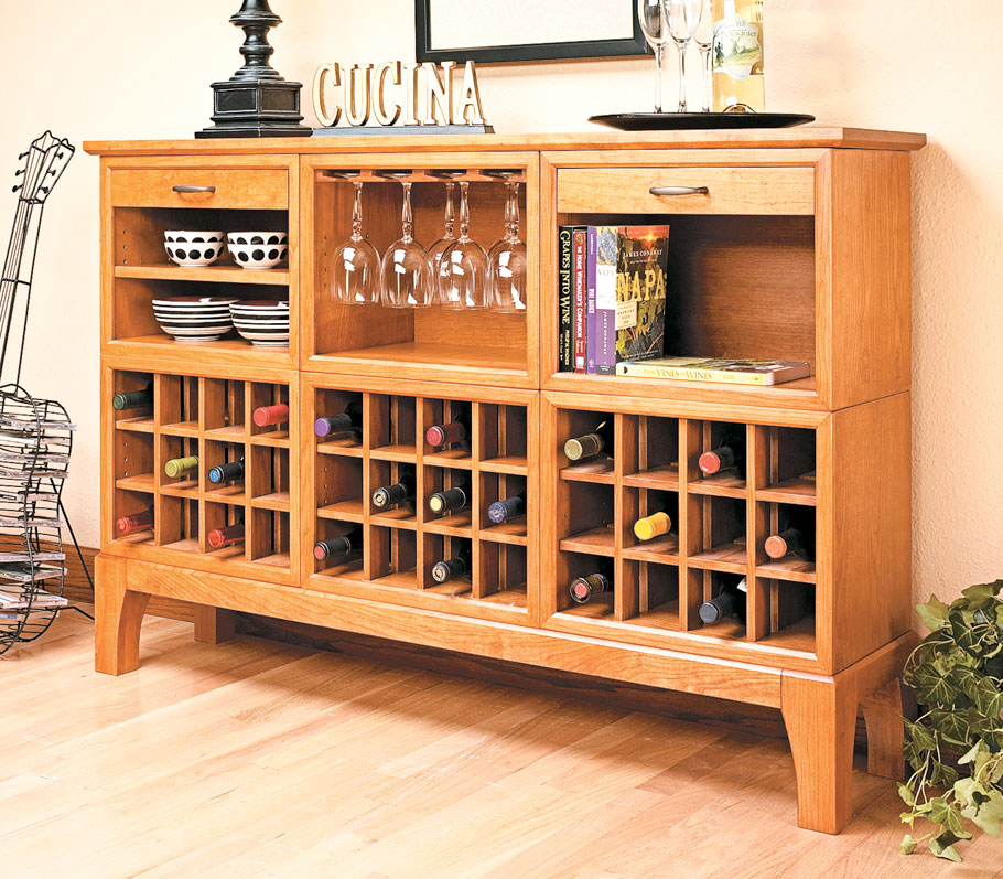 A beautiful wine server is a nice luxury, and this one is versatile enough to fit in any home.