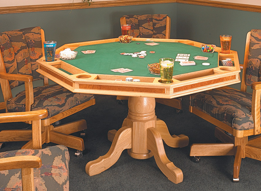 With a felt top, chip compartments, and built-in drink coasters, this poker table is a sure bet.