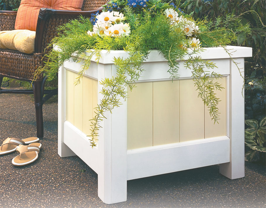 A couple of tools and some basic woodworking skills are all it takes to build this durable planter.