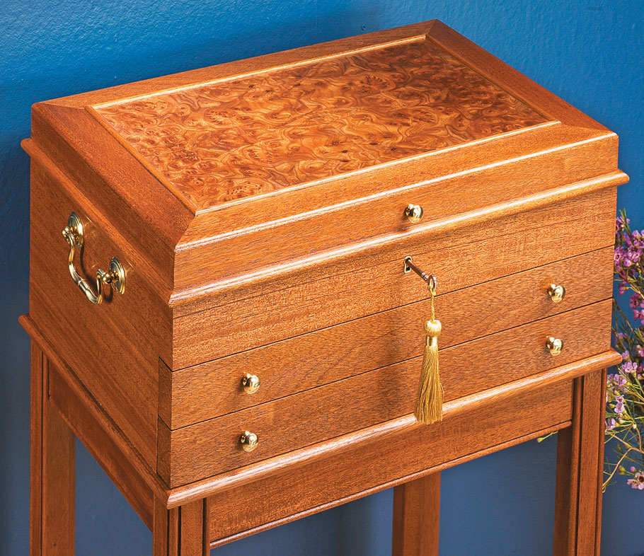 Jewelry Chest Woodworking Project Woodsmith Plans