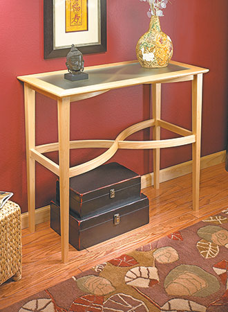 Curved-Stretcher Accent Table