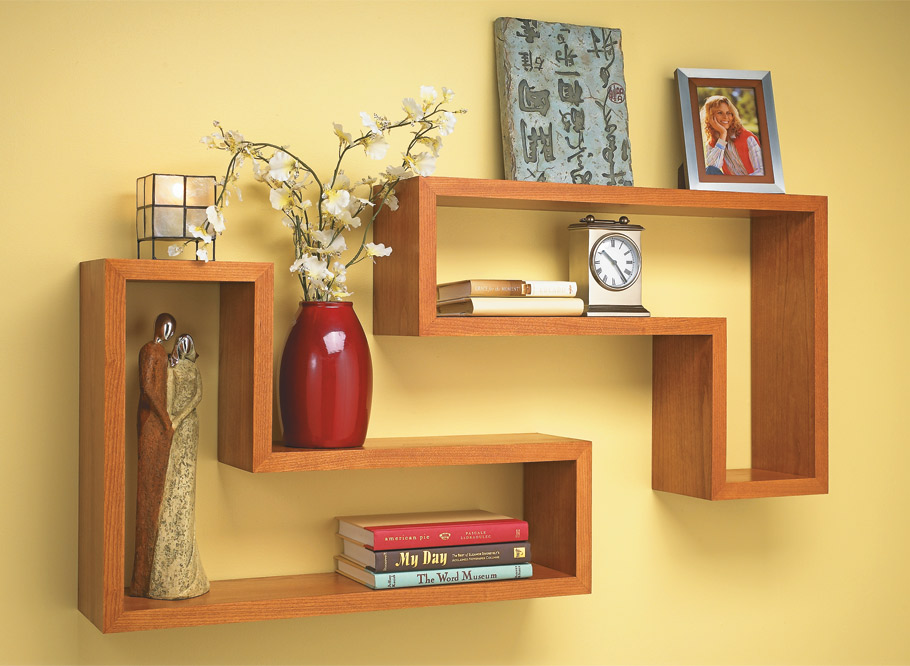 A simple design and mitered corners makes these shelves great to look at and interesting to build.