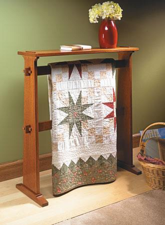 Craftsman-Style Quilt Rack