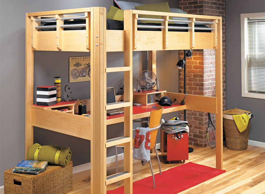 One look and you can see that this sharp-looking loft bed would be a treat for any young person to settle into and call home.