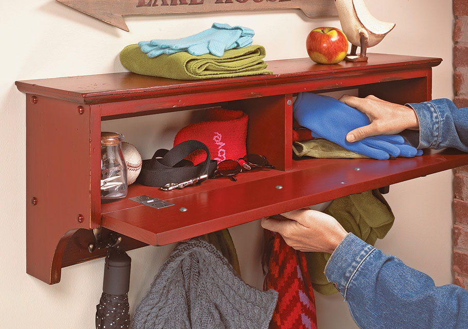 With storage above, below, and inside, this simple project allows you to organize all the items you never seem to have a place for.