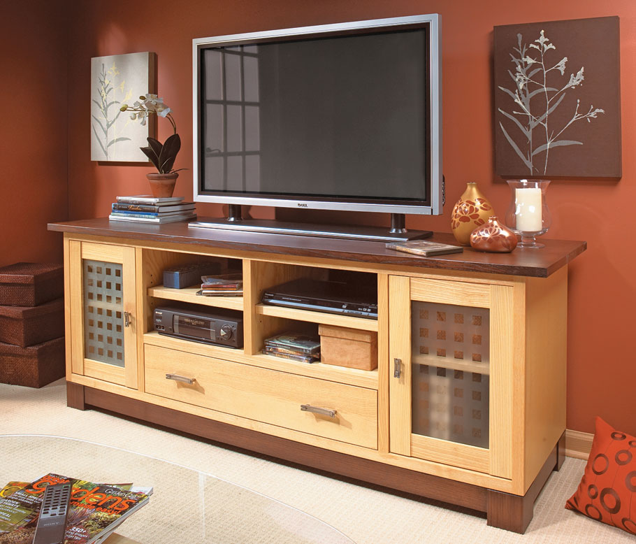 Flat Screen Tv Cabinet Woodworking Project Woodsmith Plans