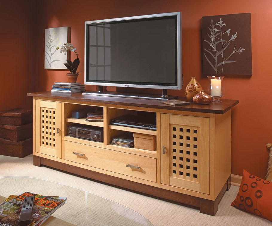 Modern lines, simple joinery, and loads of storage space combine to make this TV cabinet both functional and great-looking.