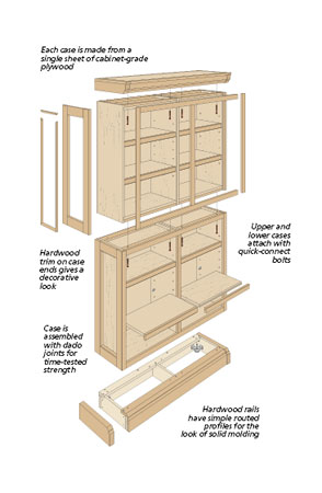 This bookcase is sure to find a place in your home for years to come. Plus, it can be built in different configurations to suit your space.