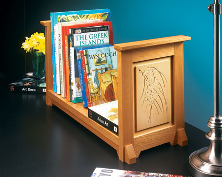Chip-Carved Book Rack