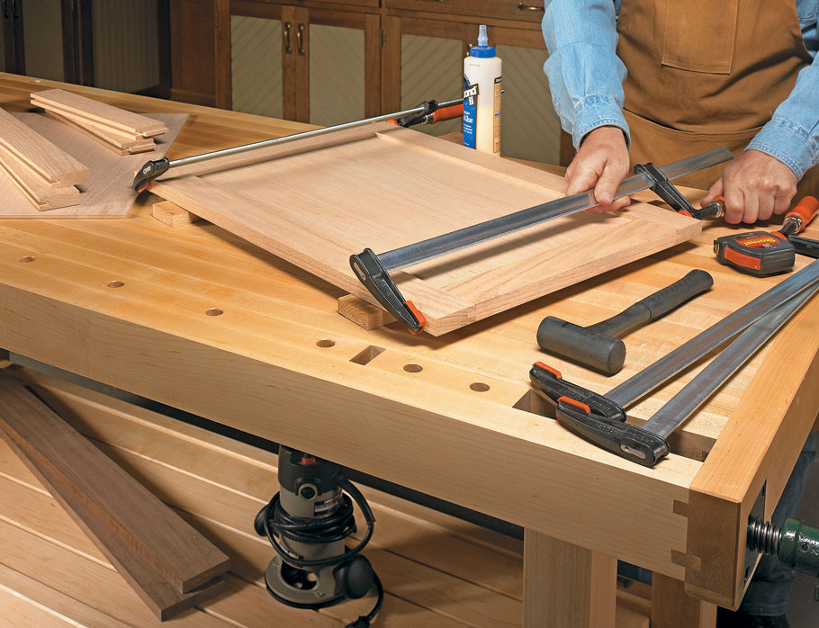 For frame and panel construction, stub tenon and groove joinery is hard to top. It's quick, strong, and very