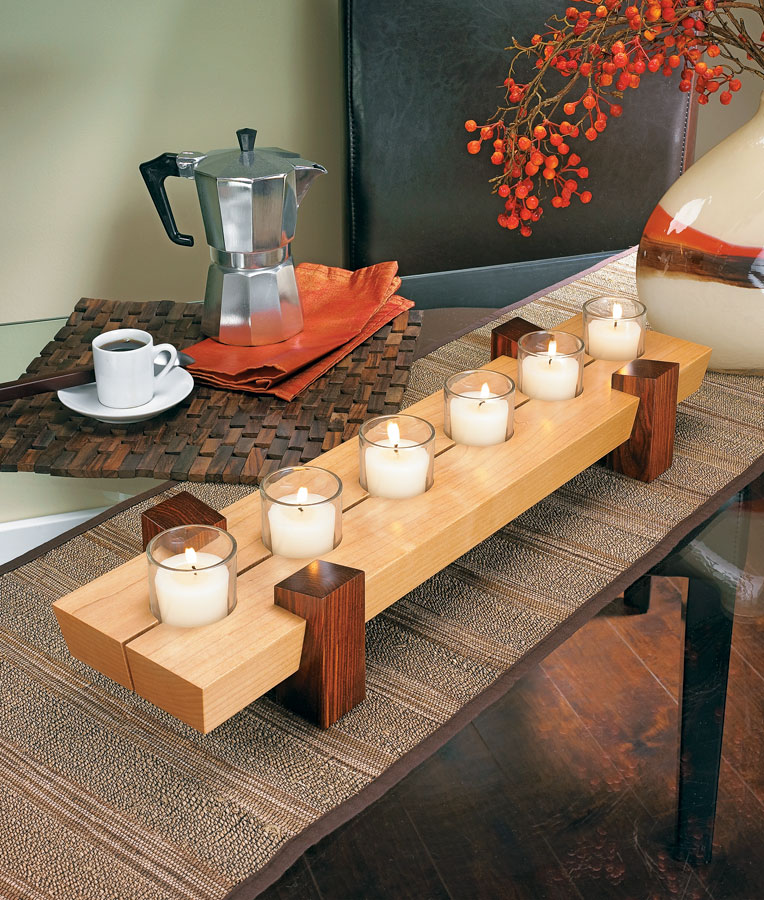 You can build this candle stand in just a few hours using pieces from the scrap bin and a few simple table saw techniques.