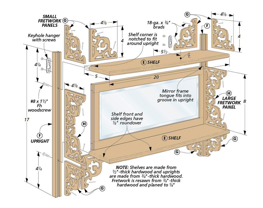 This simple, yet attractive, project is a great opportunity to spend some time building your skills at the scroll saw.