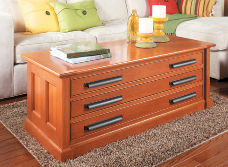 Three-Drawer Coffee Table