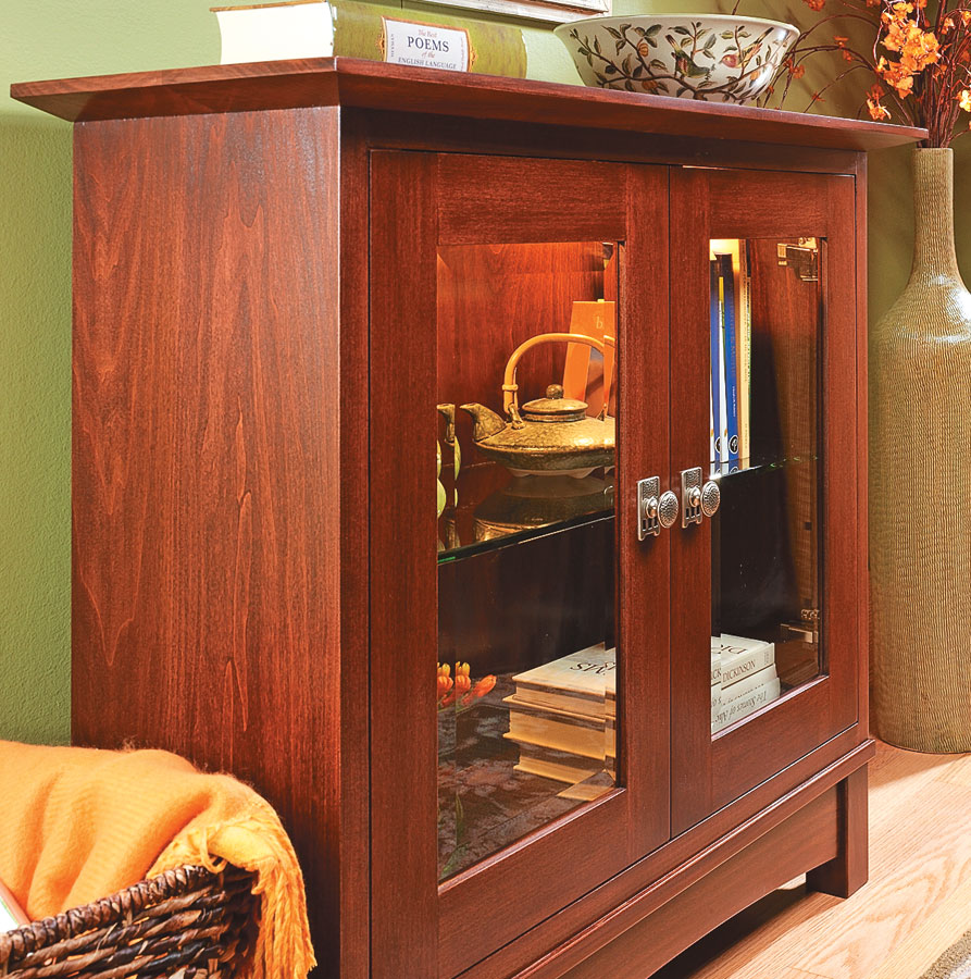 Lighted Display Cabinet Woodworking Project Woodsmith