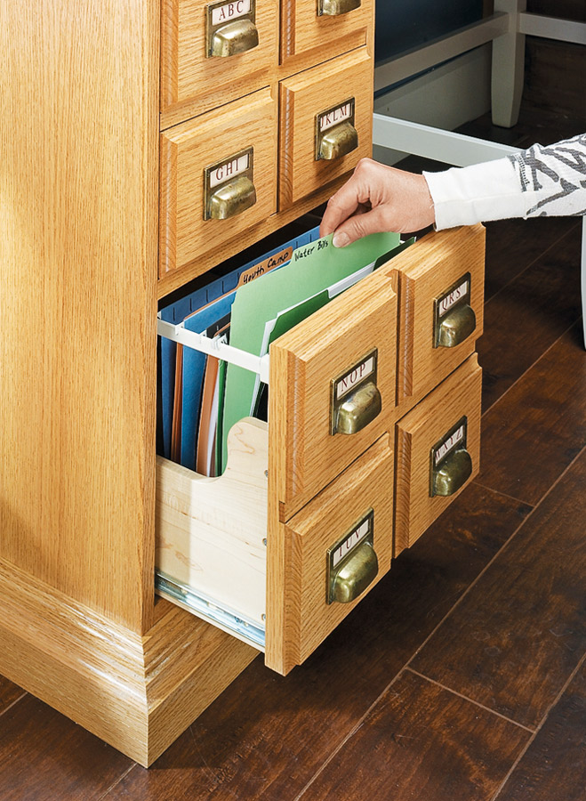 Spice up the storage in your home or office with this decoratively designed file cabinet.