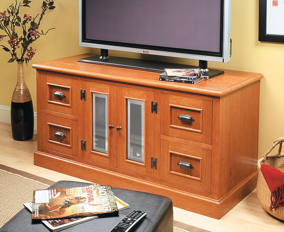 With its modular design and timeless look, this media center is the definition of an heirloom -- something you'll enjoy for years.