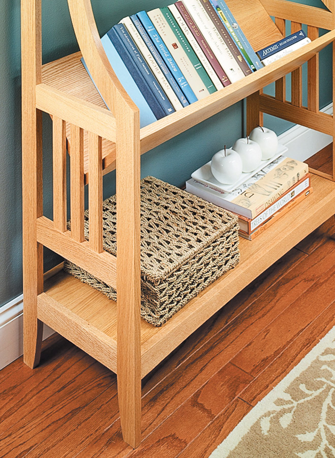 Trough Style Bookrack Woodworking Project Woodsmith Plans