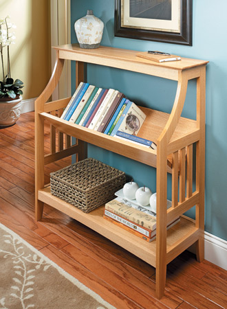 Trough-Style Bookrack