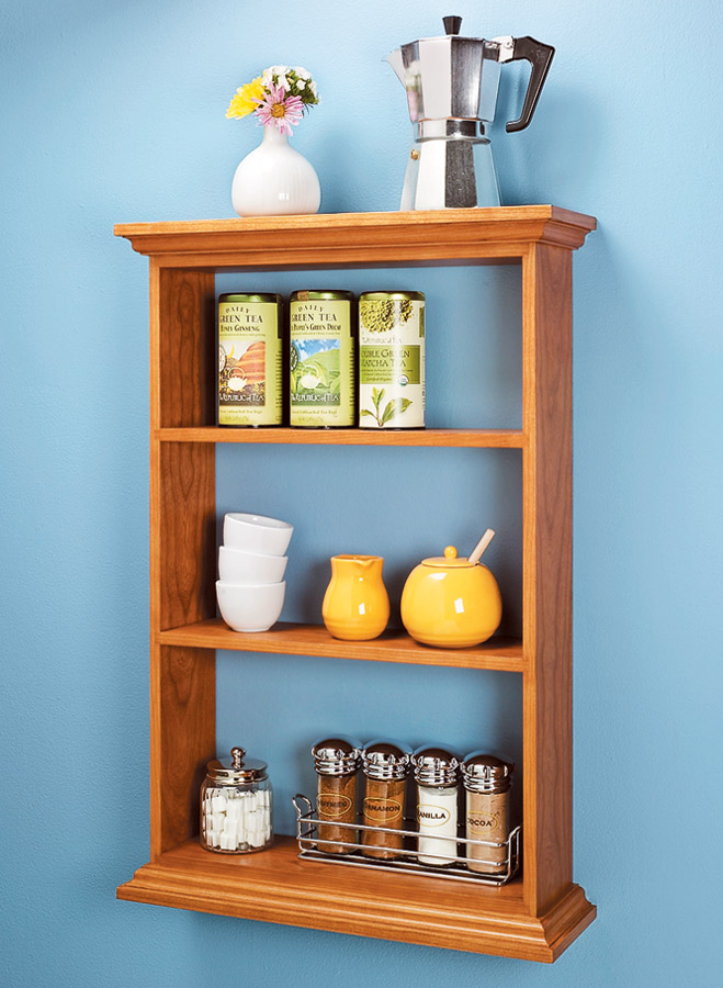 The details give this shelf its distinctive look and offer some interesting woodworking.