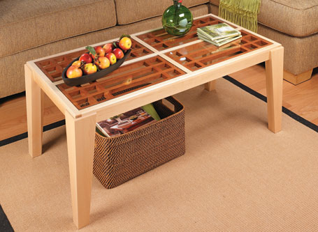 Glass-Panel Coffee Table