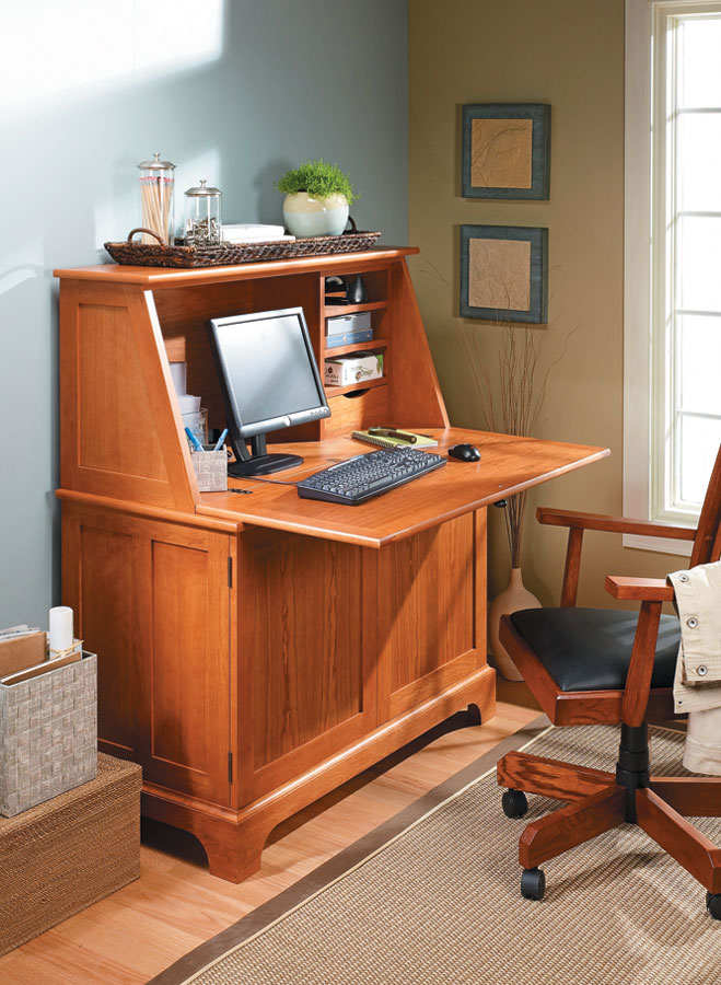 Keep your home office or spare room organized with an attractive piece of furniture that's as practical as it is stylish.