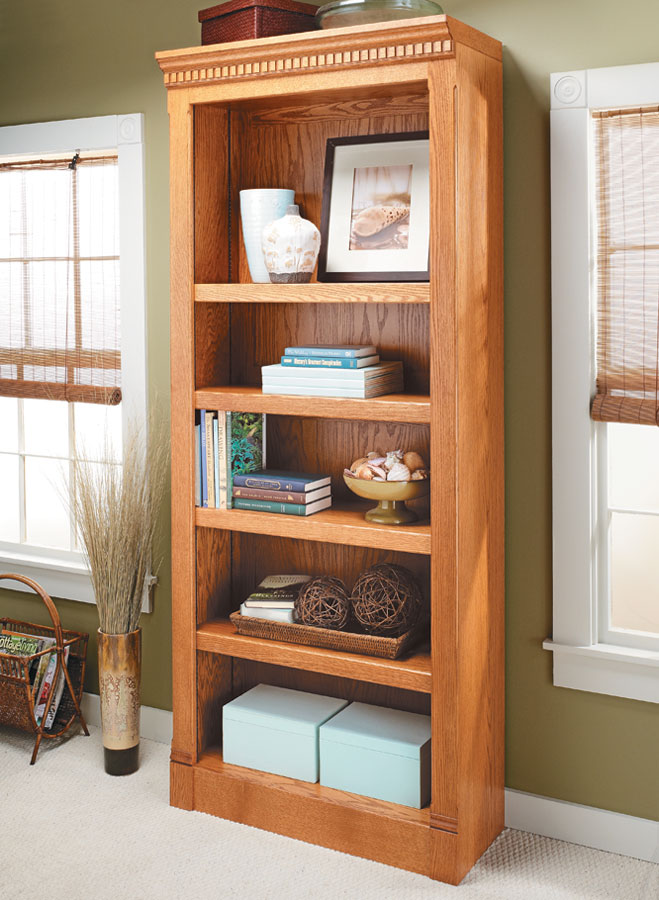 Combining classic details with simple construction, this project offers plenty of space for storage or display.