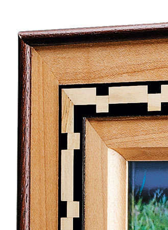 Adding a band of decorative inlay really spices up a simple frame.