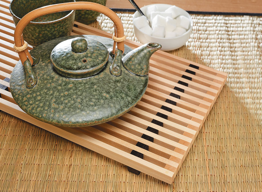 With a just a few small pieces of wood, you can make an attractive and useful trivet.