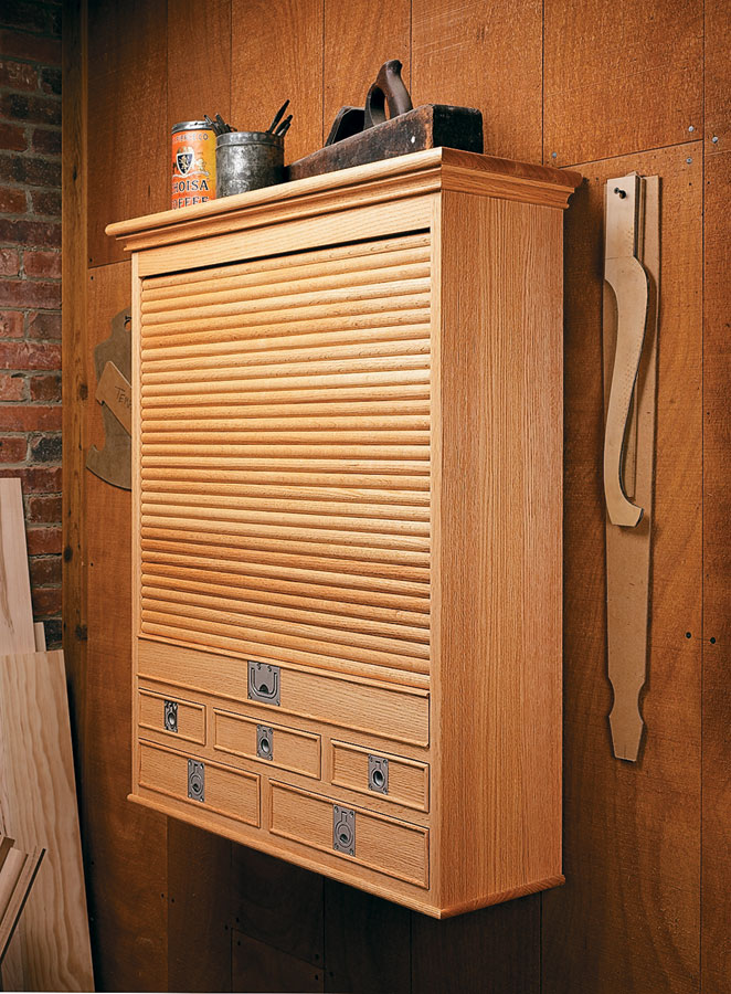 Tambour Tool Cabinet Woodworking Project Woodsmith Plans