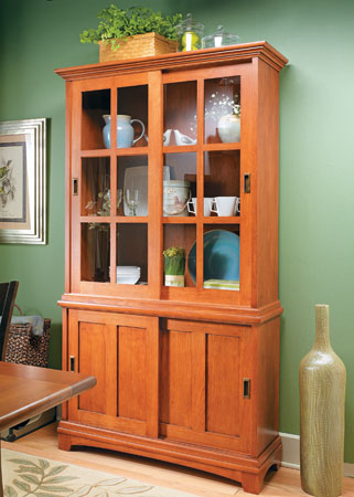 Sliding-Door Display Cabinet