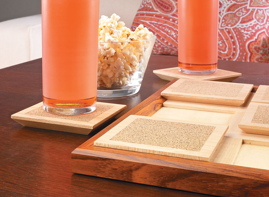The unique design of this coaster set makes it attractive enough to assume center stage — while still protecting your tabletops.