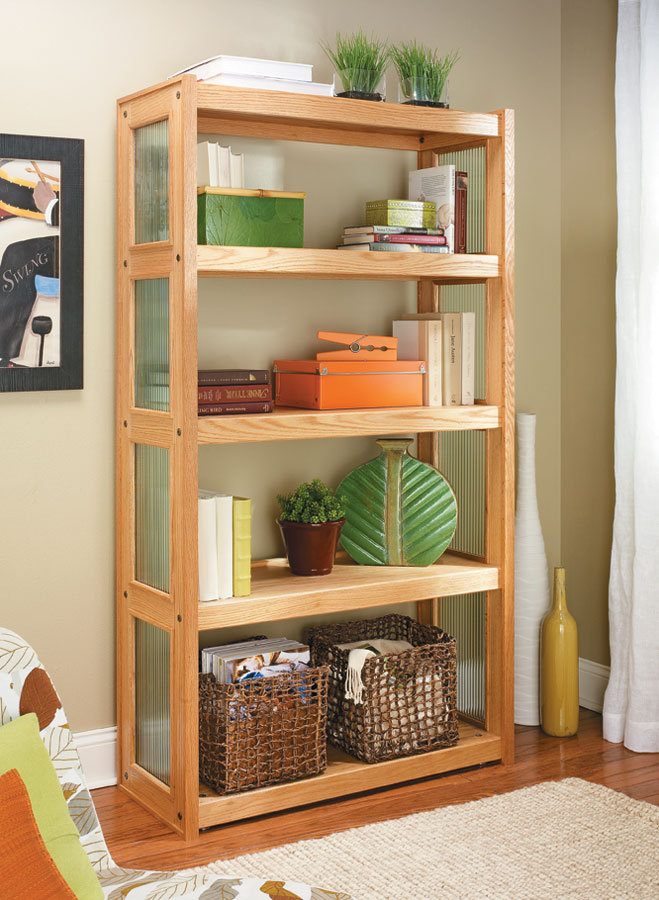 This attractive bookcase proves you don't have to sacrifice style in favor of straightforward construction.