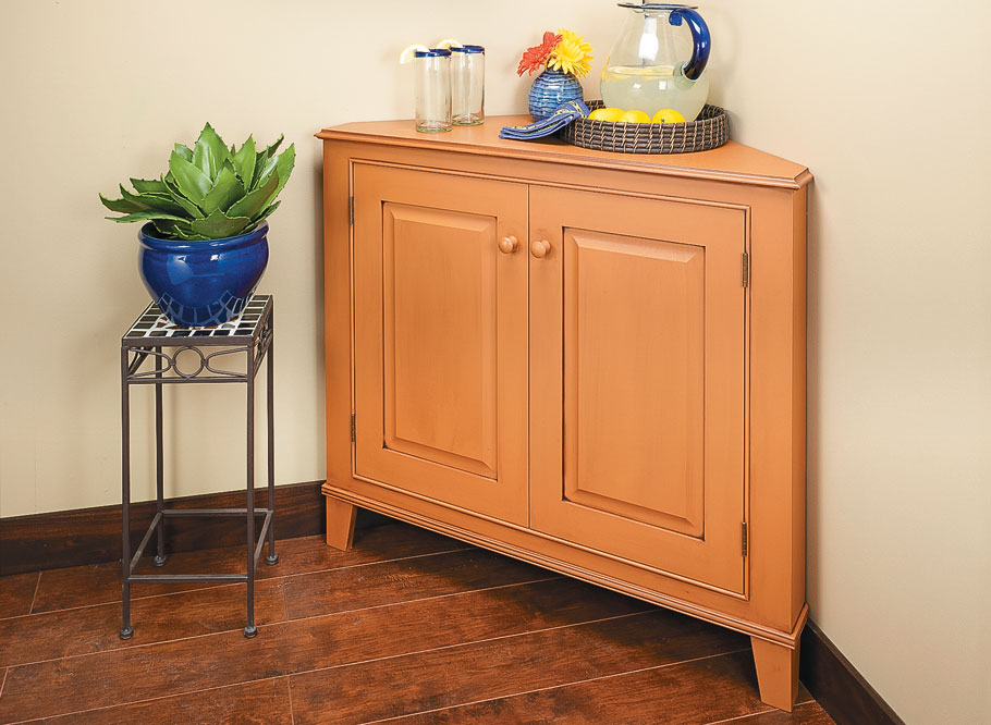 Dress up any room with a classic corner cabinet for some handy storage and an attractive display space.