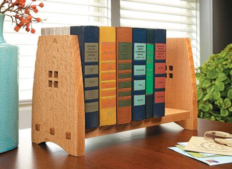 Craftsman-Style Book Rack