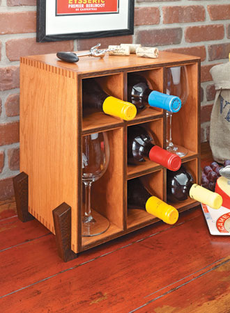 Space-Saving Wine Rack