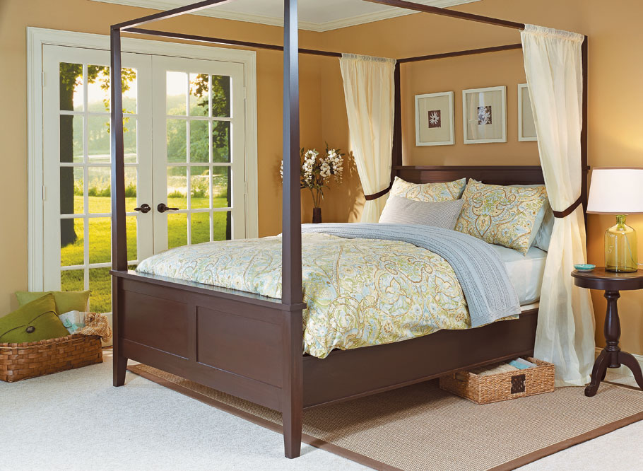 Modern Four Poster Bed Woodworking Project Woodsmith Plans