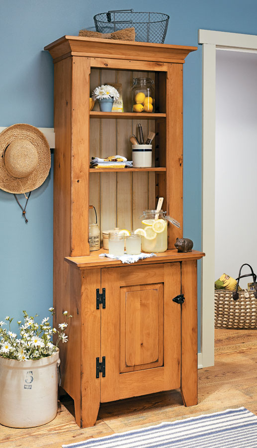 A rustic-style piece of furniture like this cupboard can add personality, plenty of storage, and a classic feeling of comfort to any room.